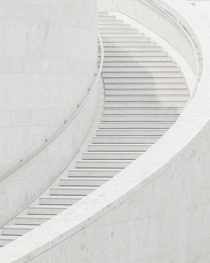 Image of winding staircase